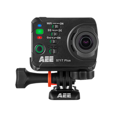 AEE S71T Plus 4K 2.7K 1080P/60 16MP HD LCD Touchscreen 120FPS Slow-Mo Action Camera 100M IP68 Waterproof Case (Black)