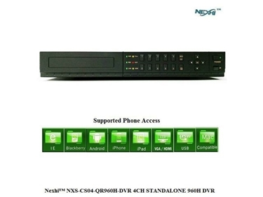 Nexhi NXS-CS04-QR960H-DVR 4CH STANDALONE 960H DVR With HDMI & QR READER For SMART PHONE EASY ACCESS