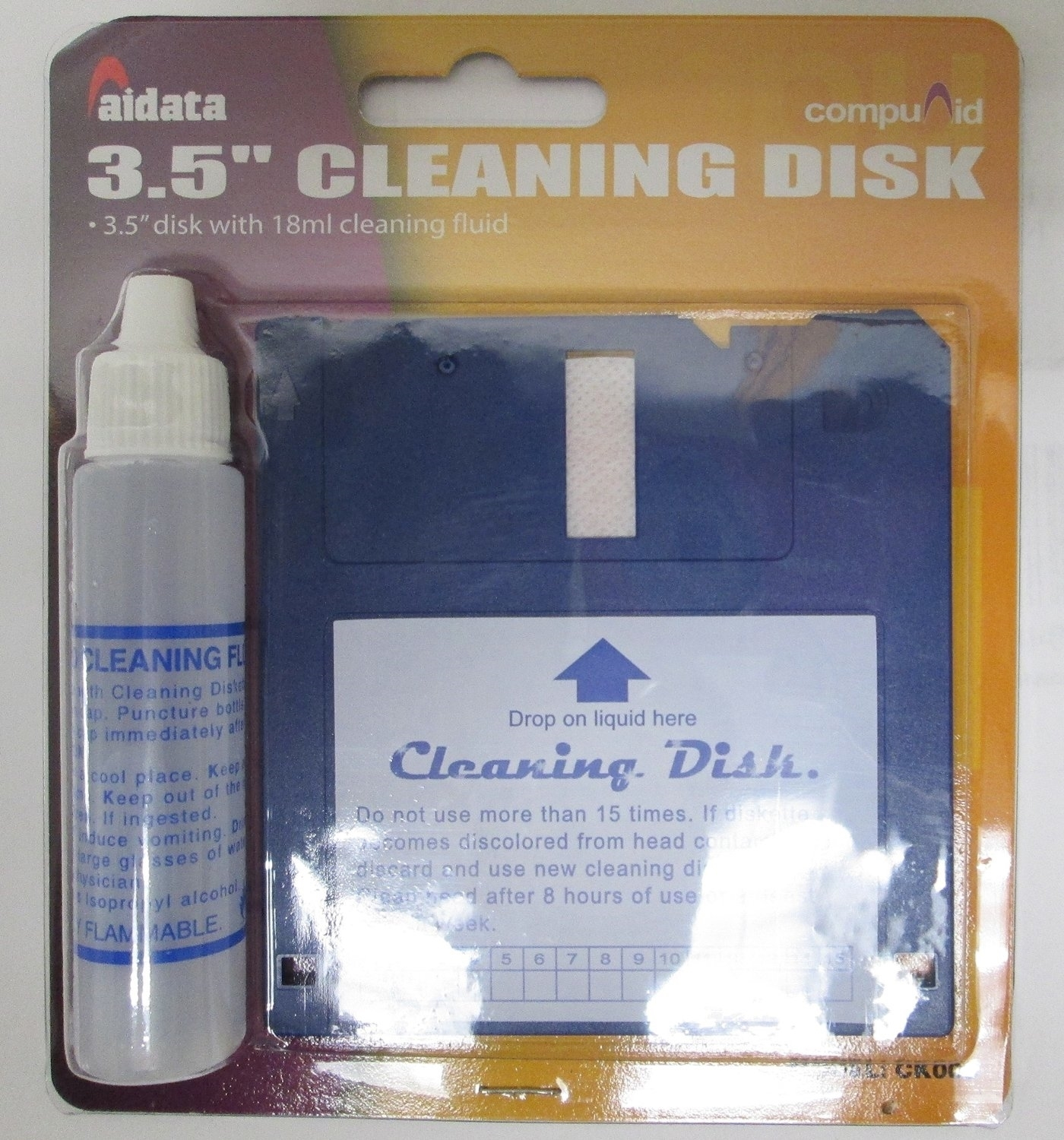 Aidata Ck005 3 5 Inch Floppy Drive Cleaning Kit Nexhi