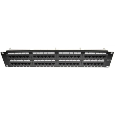 Cables Unlimited UTP-9048 48 Port Cat6 Patch Panel (Black)