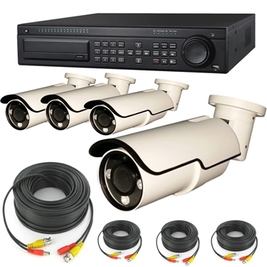 Nexhi 16CH HD-SDI 1080P DVR Security System With 2MP 1080P Bullet Camera And Cables