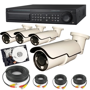 Nexhi 16CH HD-SDI 1080P DVR Security System with 2MP 1080P Bullet Camera, Cable and 1 TB HDD