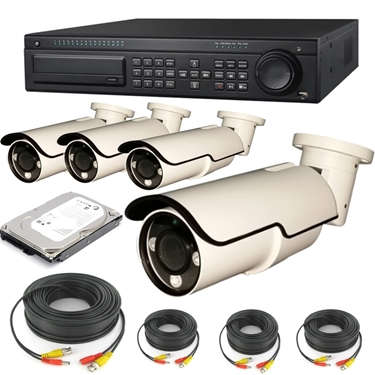 Nexhi 16CH HD-SDI 1080P DVR Security System with 2MP 1080P Bullet Camera, Cable and 500 GB HDD