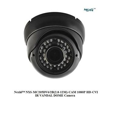 Nexhi NXS-MC205DV6/2B-CAM 1080P HD-CVI IR VANDAL DOME Camera woth 2.8-12mm Lens, 36IR & DC12V - Black
