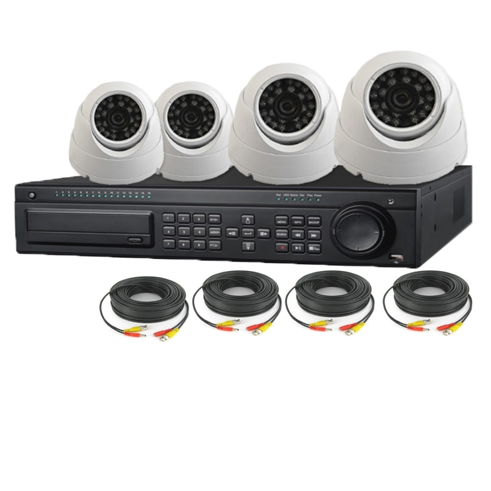 Security Camera System Cable : Nexhi ch hd sdi p dvr security system with