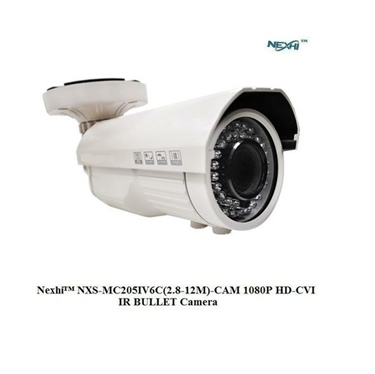 Nexhi NXS-MC205IV6C(2.8-12M)-CAM 1080P HD-CVI IR BULLET Camera with 2.8-12mm Lens, 42IR & DC12V - White
