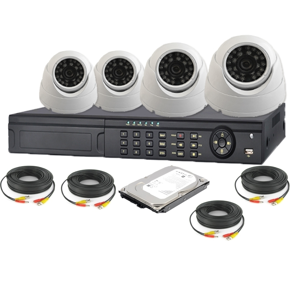 nexhi 4ch hd sdi 1080p dvr security system with 720p hd cvi dome camera - Home Video Security Systems