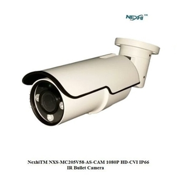 Nexhi NXS-MC205V58-AS-CAM 1080P HD-CVI IP66 IR Bullet Camera with 2.8-12mm Motorized Lens, 3PCS 3G IR & DC12V