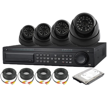 Nexhi 16CH HD-SDI 1080P DVR Security System With 720P HD-CVI Dome Camera, Cable And 500 GB HDD - Black