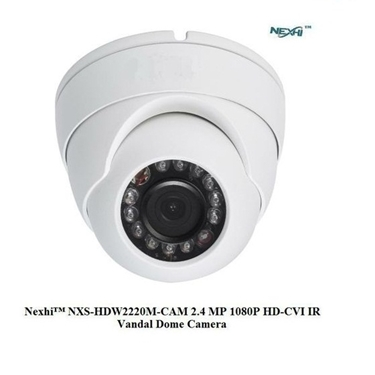 Nexhi NXS-MA203DV3/2W-OSD-CAM 1080P HD-AHD IR VANDAL DOME Camera with 3.6mm Lens, 23IR & DC12V - White