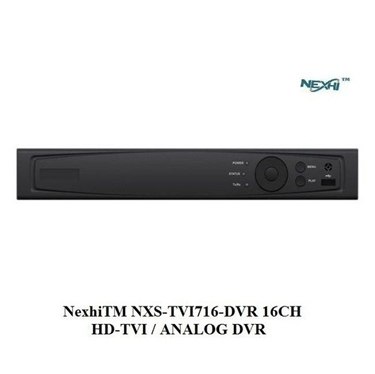 Nexhi NXS-TVI716-DVR 16CH HD-TVI / ANALOG DVR with 1080P RECORDING, H.264 Dual-Dream and HDMI OUTPUT