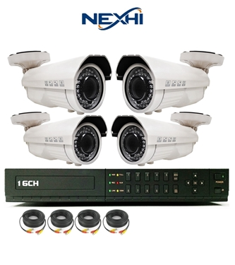 Nexhi 16CH STANDALONE 960H DVR Security System With 4 X 700TVL Sony IR Bullet Cameras