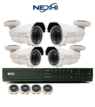 Nexhi 8CH STANDALONE 960H DVR Security System With 4 X 700TVL Sony IR Bullet Cameras
