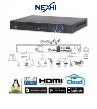 Nexhi NXH-4204-4P-NVR 4CH HDMI-VGA 4PoE Built-in Network Video Recorder(NVR)