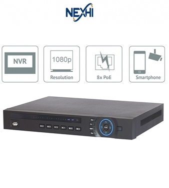 Nexhi NXH-4208-8P-NVR 8CH 1080P Plug & Play Network Video Recorder(NVR)