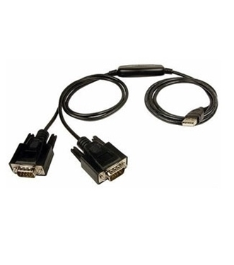 Factory Re-Certified - Cables Unlimited R-USB-2925 USB Cable to Dual DB9 Serial Adapter