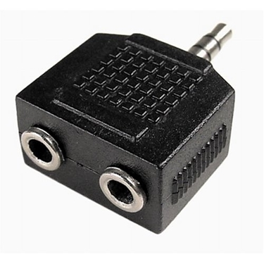 Nexhi AUD-3000 3.5mm 1-Male to 2-Female Stereo Y Splitter