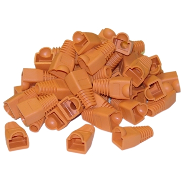 Nexhi CW-SR-8P8C-OR RJ45 Strain Relief Boots 50 Pieces Bag - Orange
