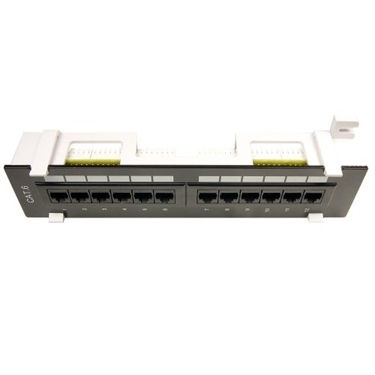Nexhi UTP-9000 12 Port Cat6 Surface Mount Patch Panel - Black