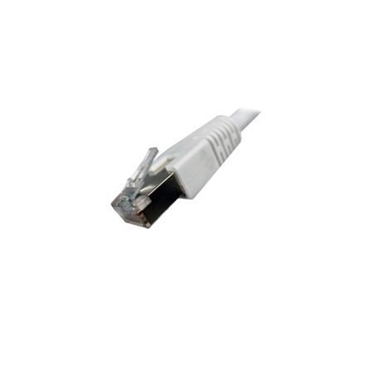 Nexhi CUS-F-034 M-AT6 Sheilded Cable - 25Ft, White
