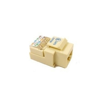 Nexhi NXH-UTP-3605 CAT5e Tool-Less Keystone Jack - 1Inch, Ivory