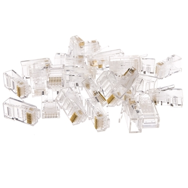 Nexhi NXH-31D0-580HD Cat6 RJ45 Crimp Connectors for Solid and Stranded Cables