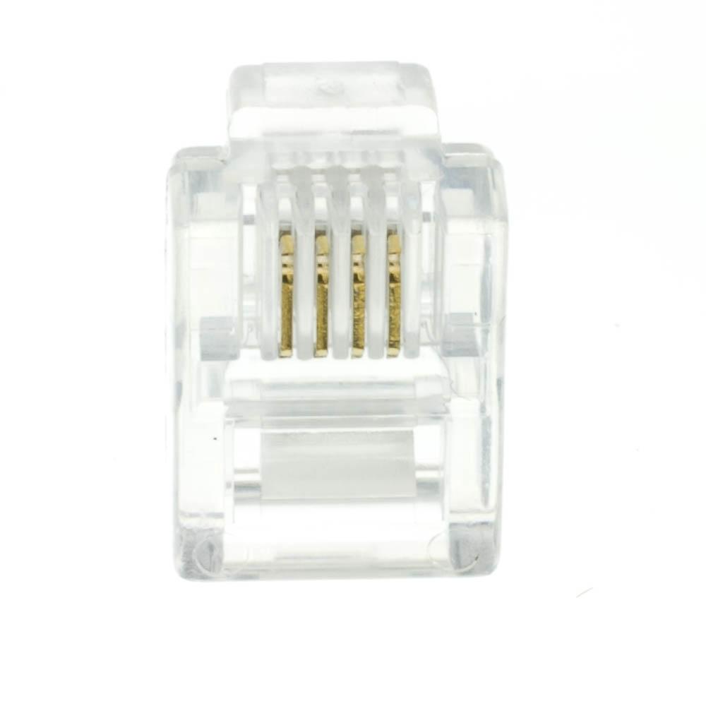 Nexhi Nxh 31d0 6p4cs Cw Phone Data Rj11 Crimp Connectors For Jack Wiring Stranded