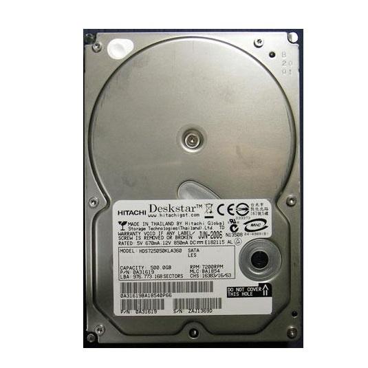 hitachi hard drive. hitachi deskstar 500gb 3.5inch sata hard drive s