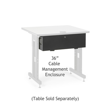 "Kendall Howard 5500-3-100-36 36"" Training Table Cable Management Enclosure"