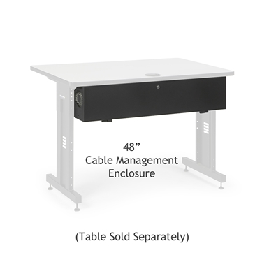 "Kendall Howard 5500-3-100-48 48"" Training Table Cable Management Enclosure"