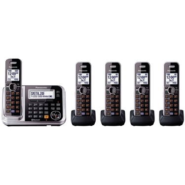 Panasonic KX-TG7875S Link2Cell Bluetooth Enabled Phone - 5 Handsets