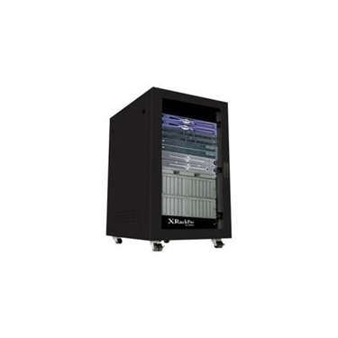 GizMac XR-NRE2-25U-US-BLK 25U Rackmount Server Rack Enclosure Cabinet with Noise Reduction