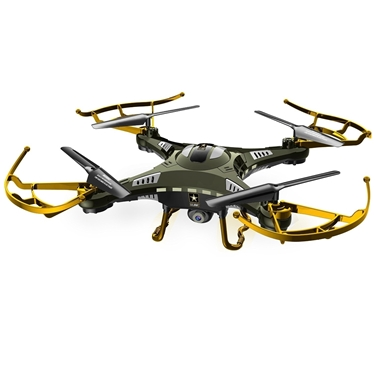 Quadrone USA-QDR-TBCAM US Army RC Remote Controlled Scout American Army Drone