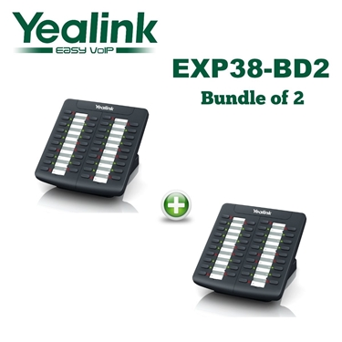 Bundle of 2 - Yealink EXP38 Expansion Module Compatible Yealink T26P and T28P