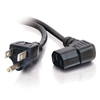 C2G / CABLES TO GO 03152 18 AWG Universal Right Angle Power Cord (NEMA 5-15P to IEC320C13R) - 6ft, Black