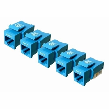 Cables Unlimited UTP-7100B-5 CAT-6 Keystone Jack 5 Pack