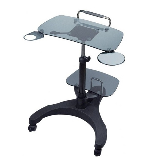 Aidata LPD011G Sit/Stand Mobile Laptop Workstation