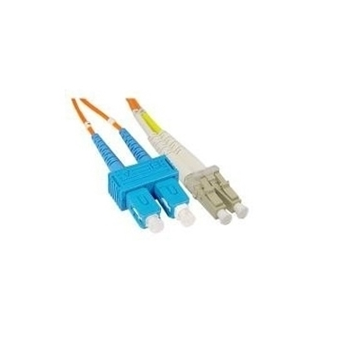 Nexhi FIBER-SC-LC-625D 62.5/125 LC-SC Duplex Fiber Patch Cord with Orange OFNR(PVC)