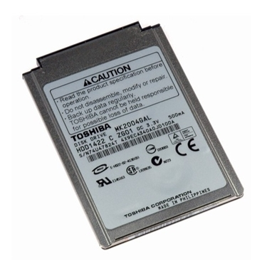 "Used - Toshiba MK2004GAL 20GB 1.8"" Internal Hard Drive with 4200RPM and 2MB Buffer"