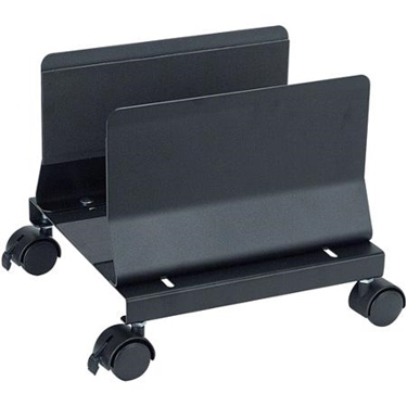 Aidata CS001EB Metal Mobile Desktop CPU Holder Stand - Black