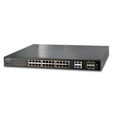 PLANET WGSW-28040P 24-Port 10/100/1000Mbps PoE + 4-Port Gigabit TP/SFP Combo Managed Switch