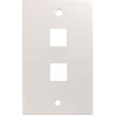 Cables Unlimited UTP-3502W-5 2 Position Face Place 5 Pack (White)