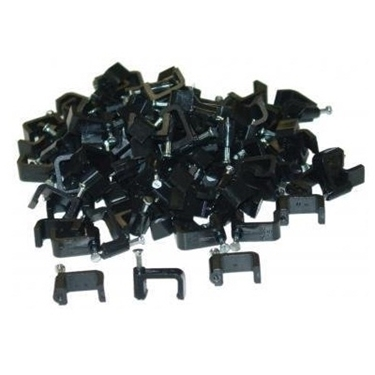 Nexhi CW-200-962 Cable-Clip Black RG6-Dual - 100 Pcs Per Bag
