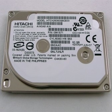 Hitachi HTC426060G8CE00 Travelstar C4K60 HTC426060G8CE00 60GB Hard Drive