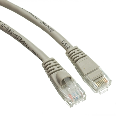 CableWholesale 10X6-021HD Molded Boot Cat5e Ethernet Patch Cable-100Ft Gray