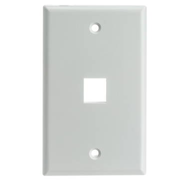 Nexhi NXH-301-1K-W-CW 1 Hole Single Gang Keystone Wall Plate - White