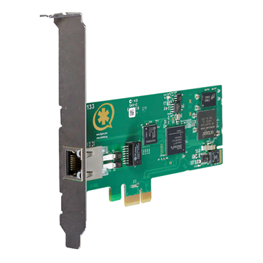 Digium 1TE131F Single Span Digital T1/E1/J1/PRI PCI Express Card