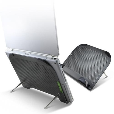 Cables Unlimited FAN-NB-COOL4 MiniFit XL Aluminum Notebook Cooler/ Stand with 80mm Fan