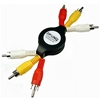 Bundle of 2 - ZipLINQ ZIP-AUDIO-RC3 Retractable Audio / Video 3 RCA Cable