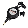 Bundle of 2 - ZipLINQ ZIP-AUDIO-CD6 Retractable 2.5mm Earbuds - Black